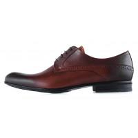 Туфли кожаные CONHPOL DYNAMIC (Poland ) 20271 коричневые