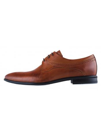 Туфли кожаные CONHPOL DYNAMIC (Poland ) 20283 светло-коричневые