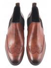 Ботинки-броги осенние кожаные DASTHON (ИТАЛИЯ) 2290 коричневые