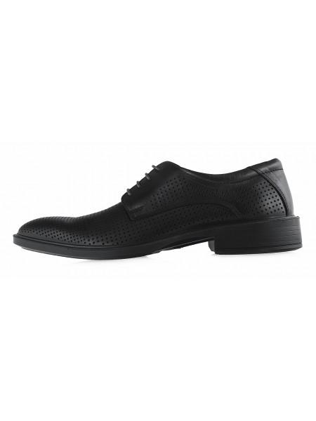 20335 BONTY (Poland ) Туфли кожаные темно-коричневые сетка сквозная