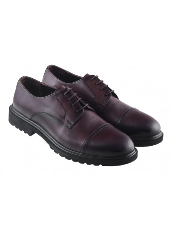 Туфли кожаные ALBA (Turkey) 20346 темно-коричневые