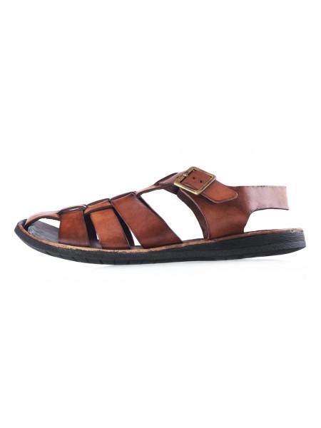 Сандали кожаные DANIELE POLIDORI (ИТАЛИЯ) 20357 коричневые