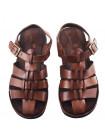 20357 DANIELE POLIDORI (Italy) Сандалии кожаные коричневые