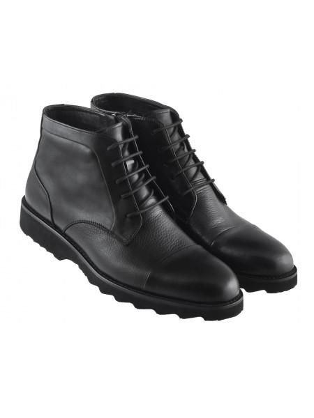 Ботинки осенние кожаные ALBA (Turkey) 20377 черные