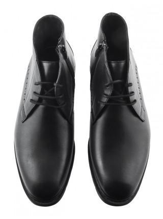20380 CONHPOL (Poland ) Ботинки осенние кожаные черные