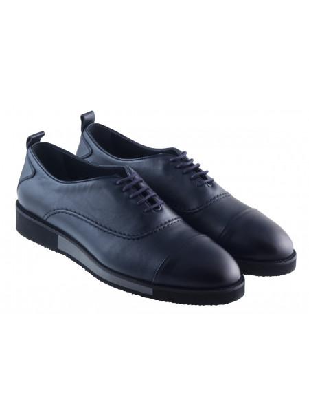 Туфли-спорт кожаные SAIL LAKERS (Turkey) 20388 темно-синие
