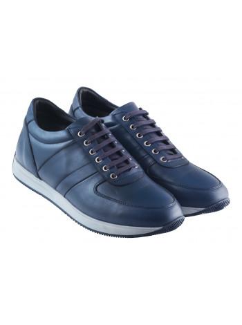 Кроссовки кожаные GROTTOCLUB (Turkey) 20399 синие