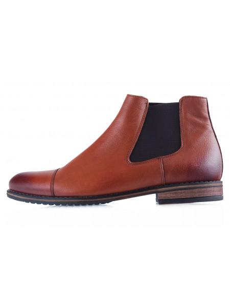 Ботинки осенние кожаные RYLKO (Poland ) 20404 коричневые