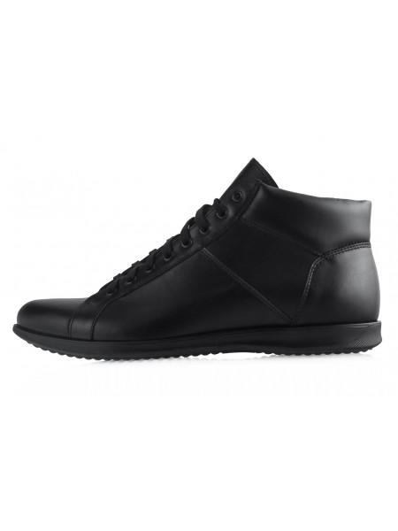 Ботинки-спорт осенние кожаные RYLKO (Poland ) 20406 черные