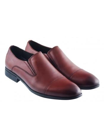 Туфли кожаные DR. JELLS (Turkey) 20410 коричневые