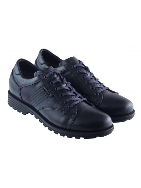 20412 KOMCERO (Turkey) Ботинки-спорт осенние кожаные темно-синие
