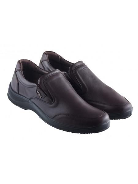 Туфли-спорт кожаные ESSE (Turkey) 20414 темно-коричневые