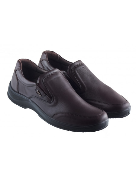 20414 ESSE (Turkey) Туфли-спорт кожаные темно-коричневые