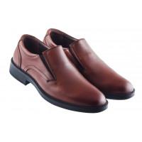 Туфли кожаные ESSE (Turkey) 20416 коричневые