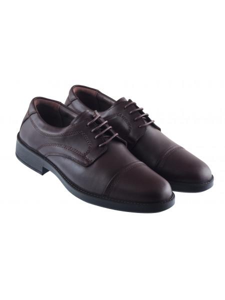 Туфли кожаные ESSE (Turkey) 20418 темно-коричневые