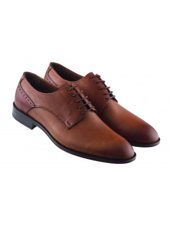 Туфли кожаные KOMCERO (Turkey) 20427 коричневые