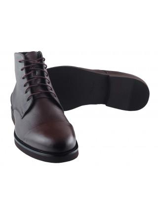 Ботинки осенние кожаные RYLKO (Poland ) 20440 темно-коричневые