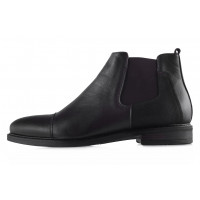 Ботинки осенние кожаные RYLKO (Poland ) 20443 темно-коричневые