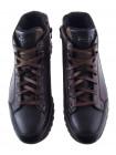 Ботинки-спорт осенние кожано-замшевые CONHPOL (Poland ) 20460 темно-коричневые