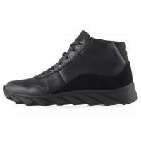 Ботинки-спорт осенние кожано-замшевые CONHPOL DYNAMIC (Poland ) 20461 черные