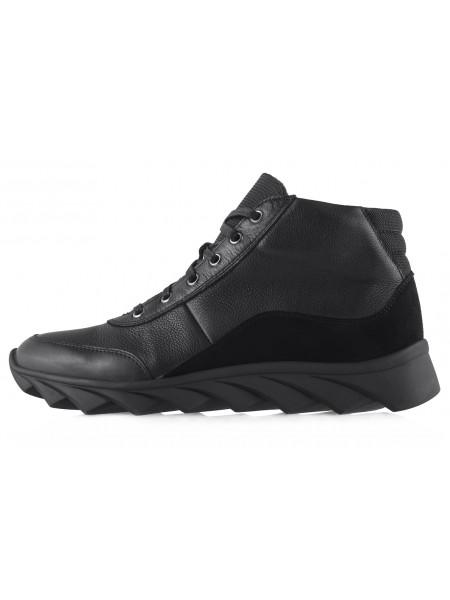 20461 CONHPOL DYNAMIC (Poland) Ботинки-спорт осенние кожаные черные