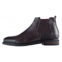Ботинки зимние кожаные RYLKO (Poland ) 20474 темно-коричневые