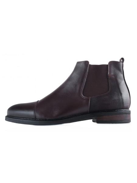 20474 RYLKO (Poland) Ботинки зимние кожаные темно-коричневые