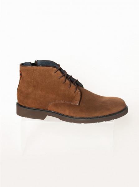 Ботинки осенние замшевые RYLKO (Poland ) 20475 коричневые