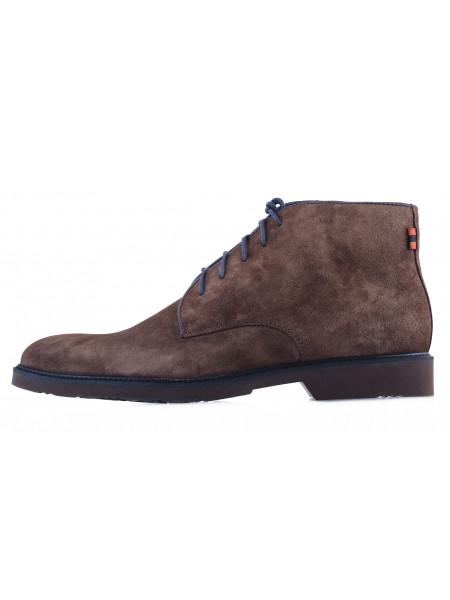 20476 RYLKO (Poland) Ботинки осенние замшевые серые