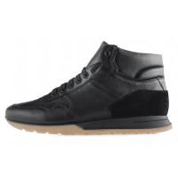 Ботинки-спорт осенние кожаные RYLKO (Poland ) 20478 черные