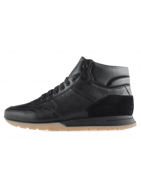 20478 RYLKO (Poland) Ботинки-спорт осенние кожаные черные