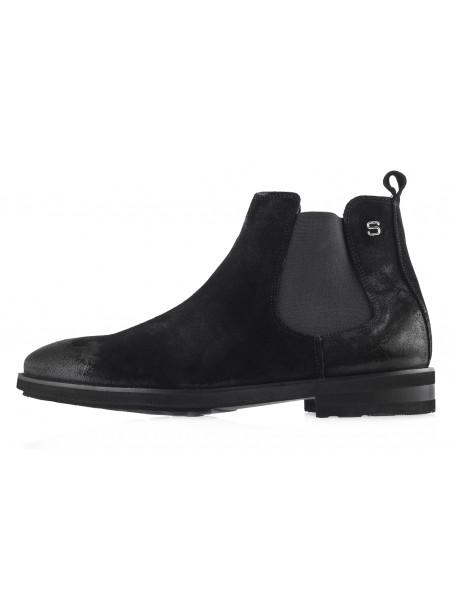 20490 SAIL LAKERS (Turkey) Ботинки осенние замшевые черные