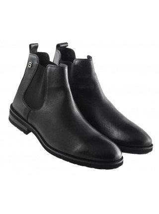 20493 SAIL LAKERS (Turkey) Ботинки осенние кожаные черные
