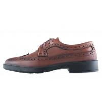 Туфли-броги кожаные ESSE (Turkey) 20502 коричневые
