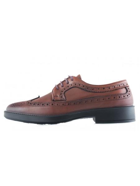 20502 ESSE (Turkey) Туфли-броги кожаные коричневые