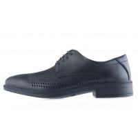 Туфли-оксфорды кожаные сетка сквозная ESSE (Turkey) 20504 черные