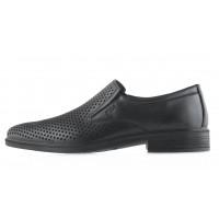 20506 ESSE (Turkey) Туфли кожаные черные сетка сквозная