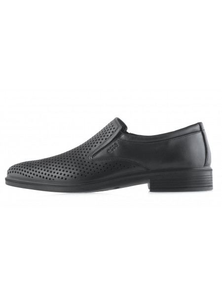 Туфли кожаные сетка сквозная ESSE (Turkey) 20506 черные