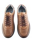 Кроссовки кожаные сетка несквозная ESSE (Turkey) 20507 коричневые
