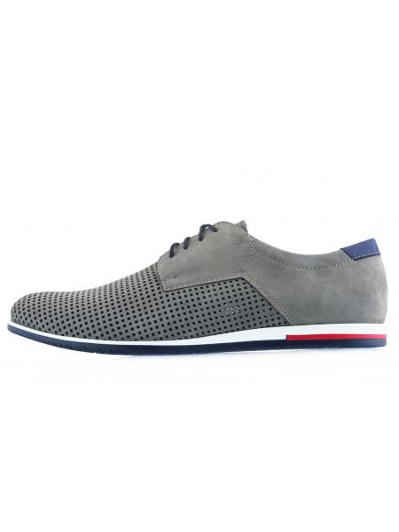 20509 RYLKO (Poland ) Туфли нубуковые серые