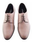 Туфли кожаные сетка несквозная RYLKO (Poland ) 20510 серые