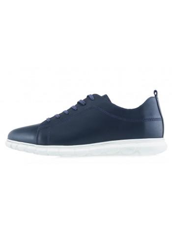 Кеды кожаные KOMCERO (Turkey) 20512 темно-синие
