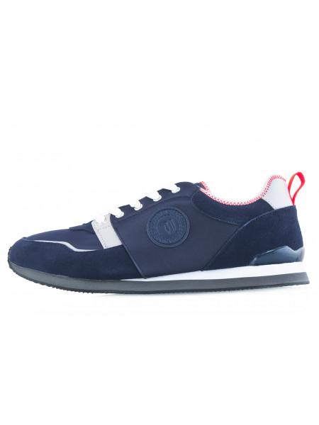20532 TRUSSARDI (Italy) Кроссовки замшево-текстильные синие