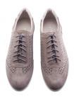20541 RYLKO (Poland ) Туфли-спорт замшевые серые сетка сквозная
