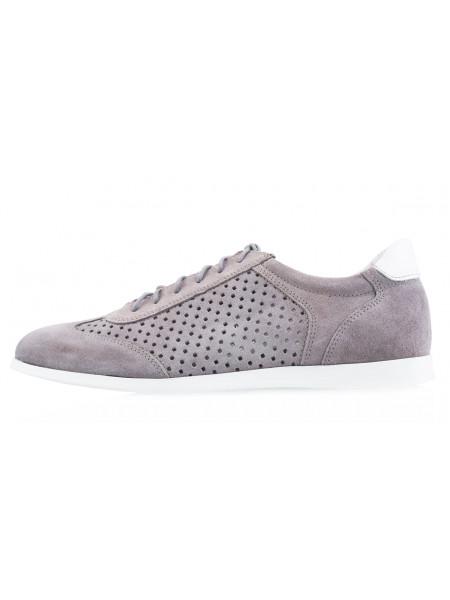 Туфли-спорт замшевые сетка сквозная RYLKO (Poland ) 20541 серые