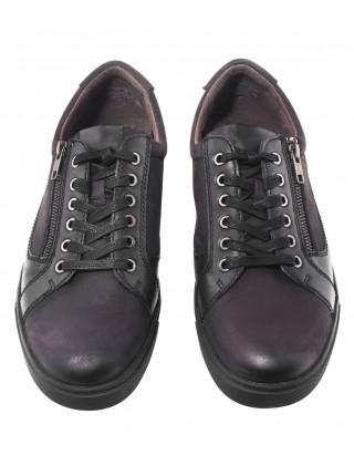 Полуботинки осенние кожаные CAPRICE (Germany) 20542 чёрные