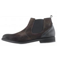 Ботинки осенние замшевые RYLKO (Poland ) 20584 темно-зеленые