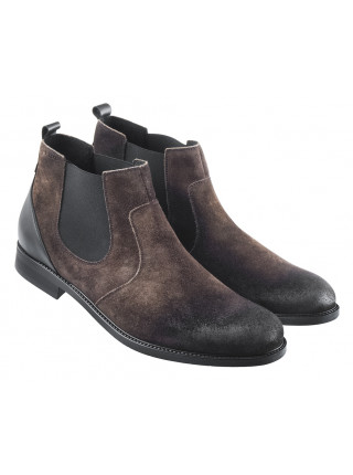 20584 RYLKO (Poland ) Ботинки осенние замшевые темно-зеленые