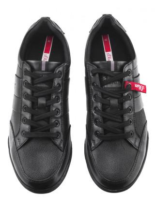 Кеды кожаные S.OLIVER (Germany) 20586 черные