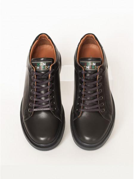 Ботинки-спорт осенние кожаные JOHN RICHARDO (Turkey) 20591 синие